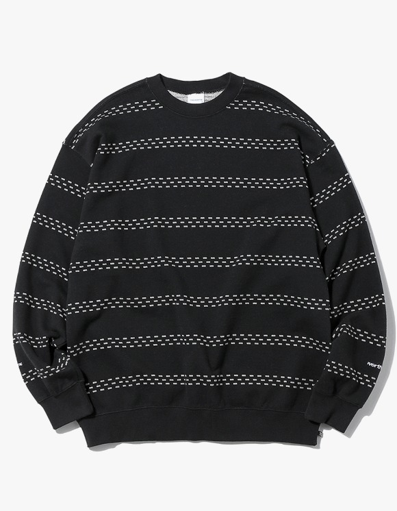 thisisneverthat Brick Striped Crewneck - Black | HEIGHTS. | 하이츠 온라인 스토어