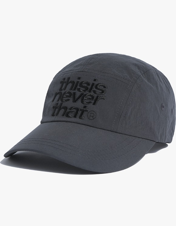 thisisneverthat 3Line Logo Camp Cap - Anthracite | HEIGHTS. | 하이츠 온라인 스토어