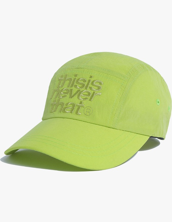 thisisneverthat 3Line Logo Camp Cap - Lime Green | HEIGHTS. | 하이츠 온라인 스토어