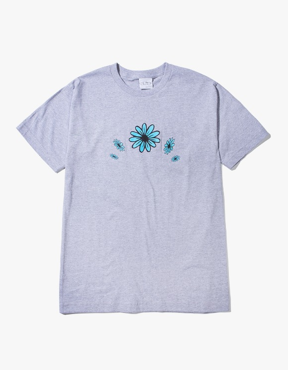 SNEEZE Magazine Blue Flowers Tee - Heather Grey | HEIGHTS. | 하이츠 온라인 스토어