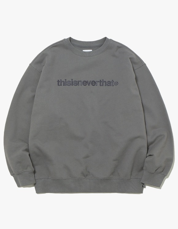 thisisneverthat T-Logo Crewneck - Charcoal | HEIGHTS. | 하이츠 온라인 스토어