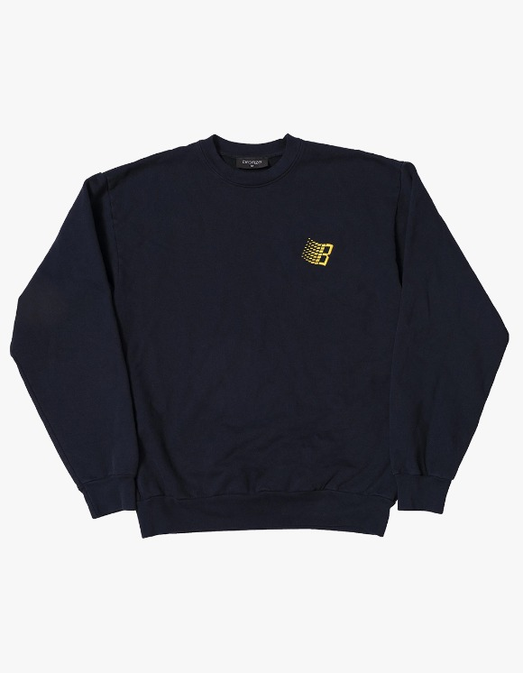 BRONZE56k Embroidered B Logo Crewneck - Navy | HEIGHTS. | 하이츠 온라인 스토어