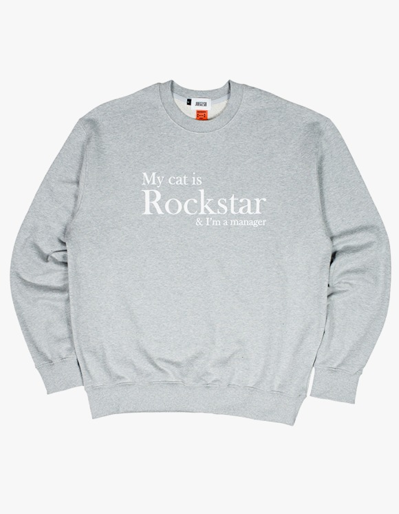 JOEGUSH My cat is Rockstar & I'm a manager SWEATSHIRT Ver. - Grey | HEIGHTS. | 하이츠 온라인 스토어