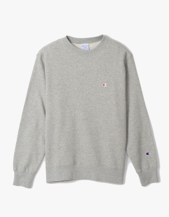 Champion Basic Crewneck Sweatshirts - Heather Grey | HEIGHTS. | 하이츠 온라인 스토어