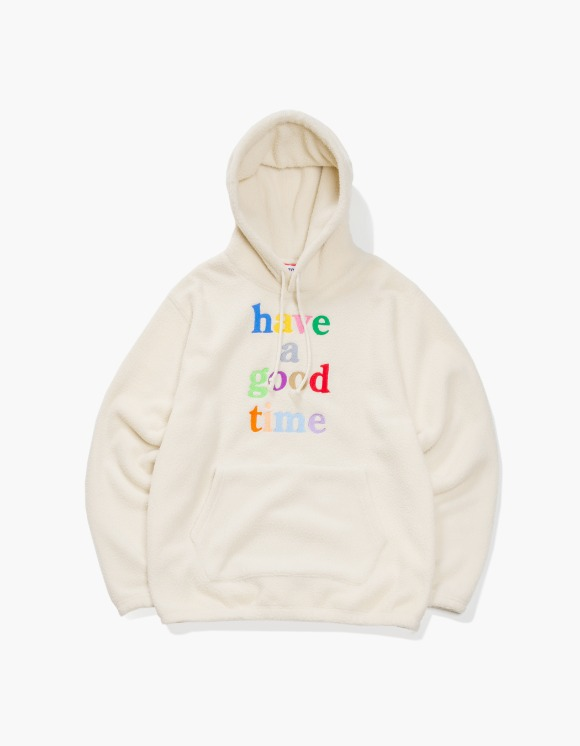have a good time Colorful Logo Fleece Pullover Hoodie - Cream | HEIGHTS. | 하이츠 온라인 스토어