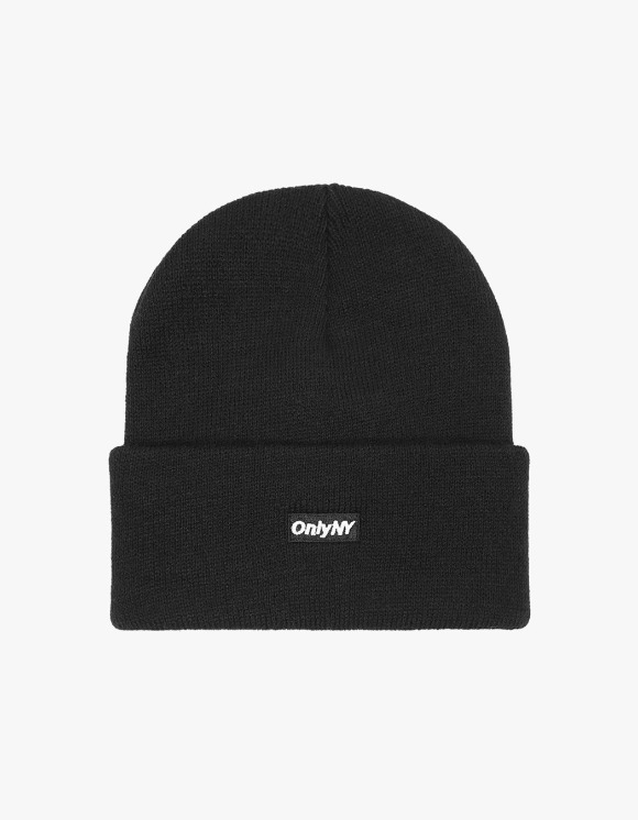 Only NY Block Logo Beanie - Black | HEIGHTS. | 하이츠 온라인 스토어