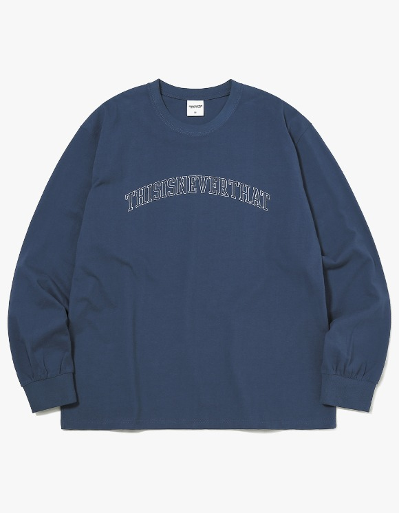thisisneverthat ARC-Logo L/SL Top - Light Navy | HEIGHTS. | 하이츠 온라인 스토어