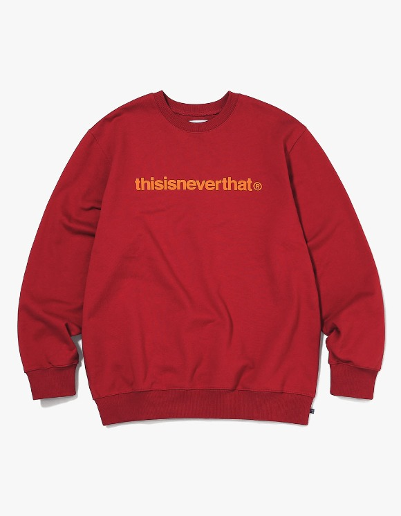 thisisneverthat T-Logo Crewneck - Red | HEIGHTS. | 하이츠 온라인 스토어