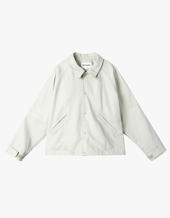 yeseyesee Y.E.S Leather Jacket - Ivory | HEIGHTS. | 하이츠 온라인 스토어