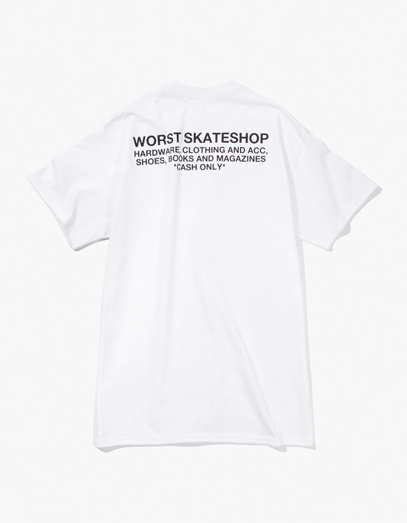 WORST SKATESHOP Flea Market Tee - White | HEIGHTS. | 하이츠 온라인 스토어
