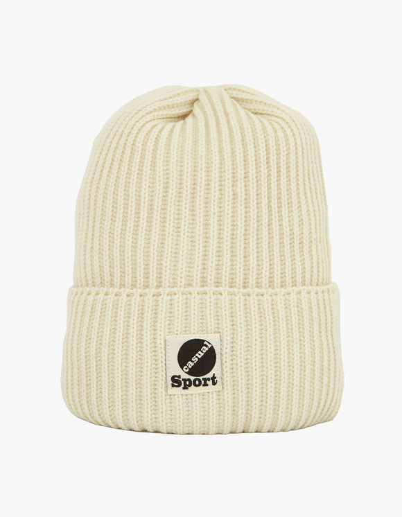 Heritage Floss Wool Beanie - White | HEIGHTS. | 하이츠 온라인 스토어