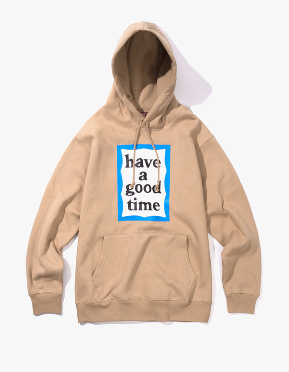 have a good time Blue Frame Pullover Hoodie - Sand | HEIGHTS. | 하이츠 온라인 스토어