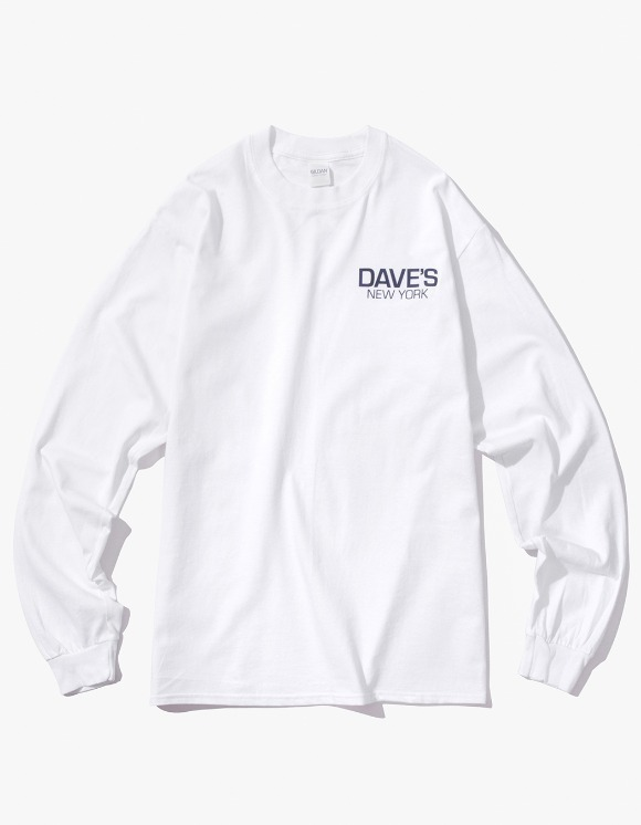 DAVE'S NEW YORK Work Logo L/S T-Shirt - White | HEIGHTS. | 하이츠 온라인 스토어