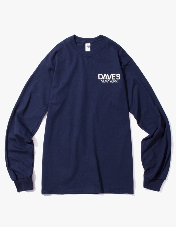 DAVE'S NEW YORK Work Logo L/S T-Shirt - Navy | HEIGHTS. | 하이츠 온라인 스토어