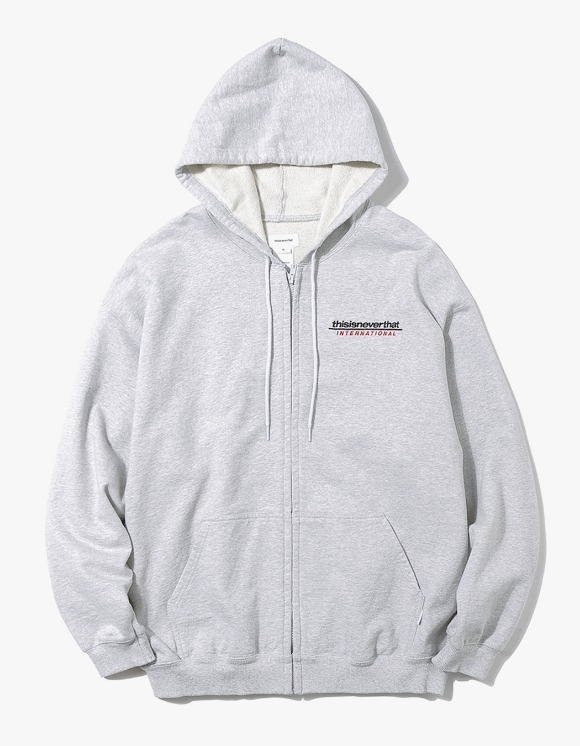 thisisneverthat SP-INTL. Logo ZIPUP Sweat - Grey | HEIGHTS. | 하이츠 온라인 스토어
