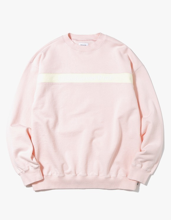 thisisneverthat Striped SP Crewneck - Light Pink | HEIGHTS. | 하이츠 온라인 스토어
