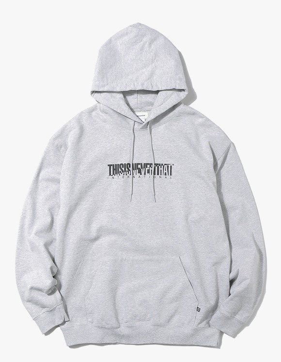 thisisneverthat CP-INTL. Hooded Sweatshirt - Grey | HEIGHTS. | 하이츠 온라인 스토어