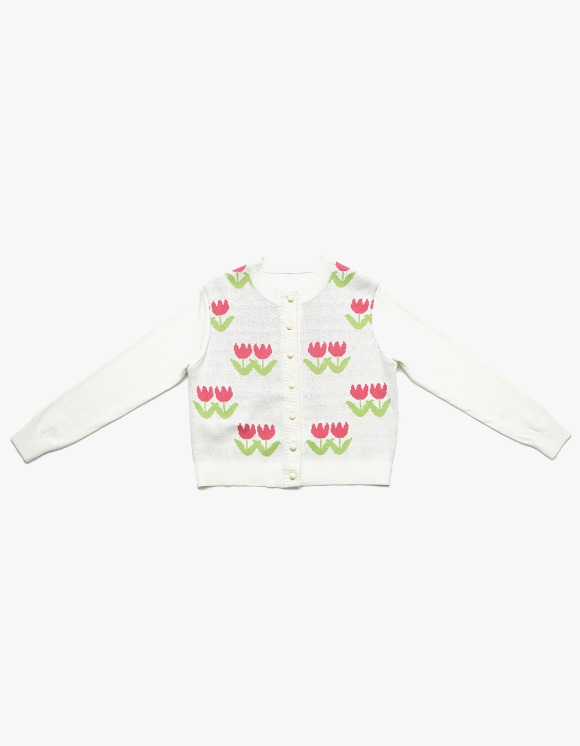 Margarin Fingers Tulip Knit Cardigan - Cream | HEIGHTS. | 하이츠 온라인 스토어