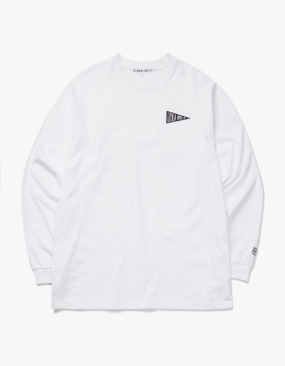 IZOLA NYC Flag L/S Tee - White | HEIGHTS. | 하이츠 온라인 스토어