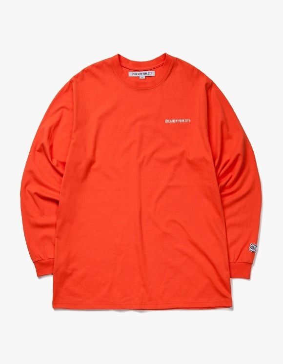 IZOLA NYC Logo L/S Tee - Orange | HEIGHTS. | 하이츠 온라인 스토어