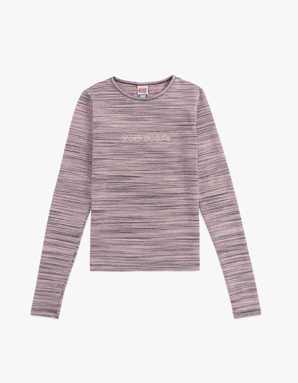 MISCHIEF Fitted Stripe Long Sleeve - Pink/Grey | HEIGHTS. | 하이츠 온라인 스토어