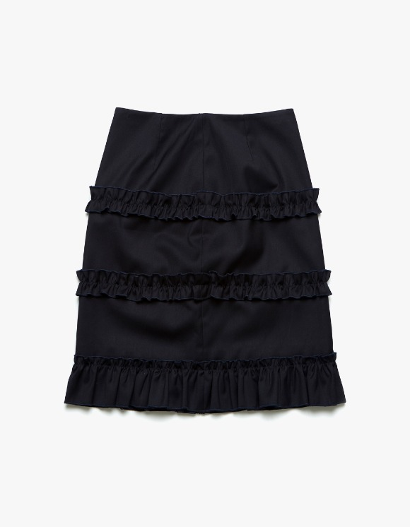 Margarin Fingers Ruffle Trimming Skirt - Navy | HEIGHTS. | 하이츠 온라인 스토어