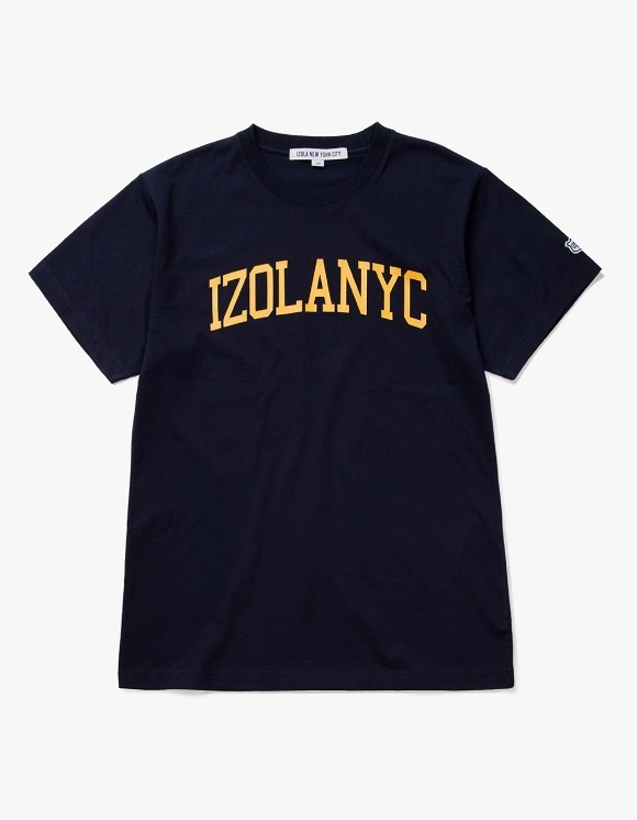 IZOLA NYC College Logo S/S Tee - Navy | HEIGHTS. | 하이츠 온라인 스토어