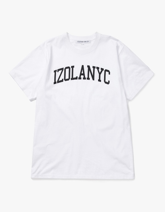 IZOLA NYC College Logo S/S Tee - White | HEIGHTS. | 하이츠 온라인 스토어