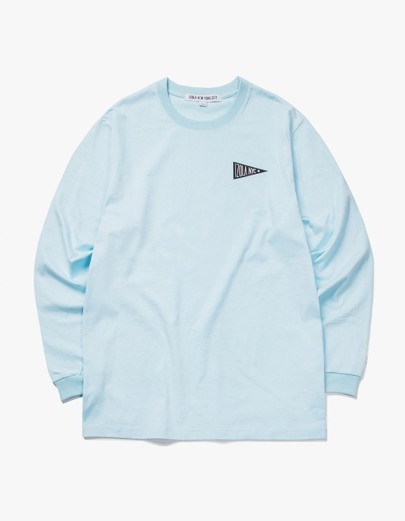 IZOLA NYC Flag L/S Tee - Sky Blue | HEIGHTS. | 하이츠 온라인 스토어