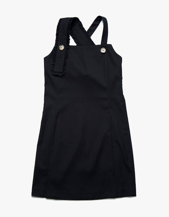 Margarin Fingers Frill Suspender One-Piece - Black | HEIGHTS. | 하이츠 온라인 스토어