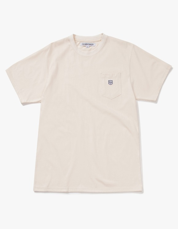 IZOLA NYC Patch S/S Pocket Tee - Cream | HEIGHTS. | 하이츠 온라인 스토어
