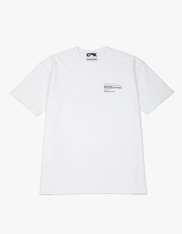 Cost Per Kilo Statement of Work S/S Tee - White | HEIGHTS. | 하이츠 온라인 스토어