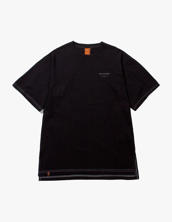 IDEAEND Baggy Tuck Half T-shirts - Black | HEIGHTS. | 하이츠 온라인 스토어