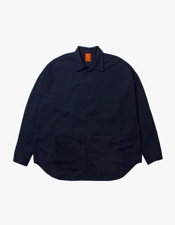 IDEAEND Net Shirt - Navy | HEIGHTS. | 하이츠 온라인 스토어