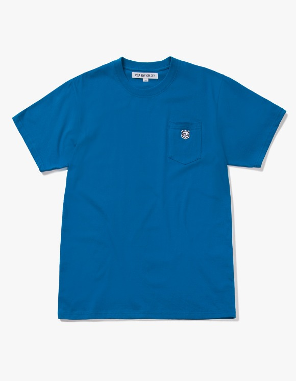 IZOLA NYC Patch S/S Pocket Tee - Deep Blue | HEIGHTS. | 하이츠 온라인 스토어