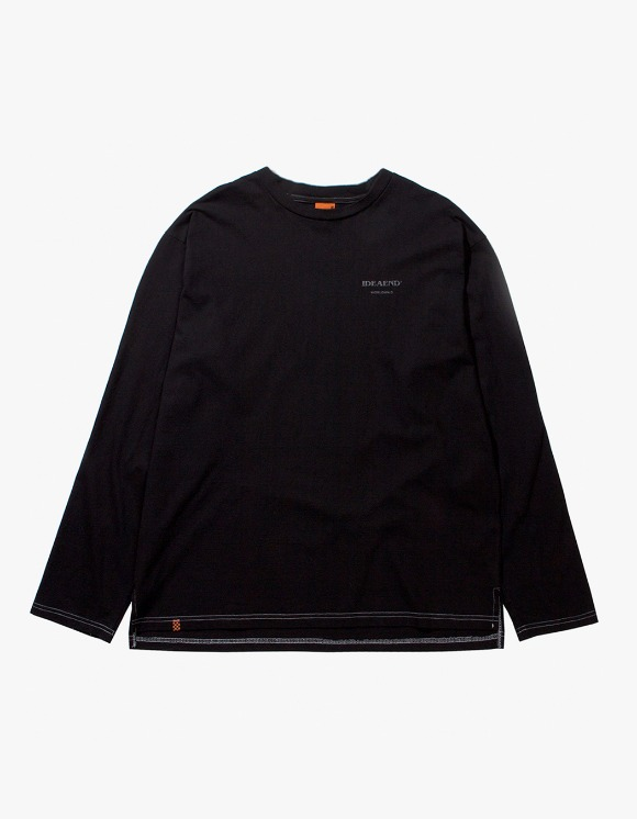 IDEAEND Baggy Tuck L/S T-shirts - Black | HEIGHTS. | 하이츠 온라인 스토어