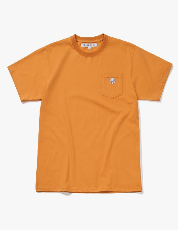 IZOLA NYC Patch S/S Pocket Tee - Camel | HEIGHTS. | 하이츠 온라인 스토어