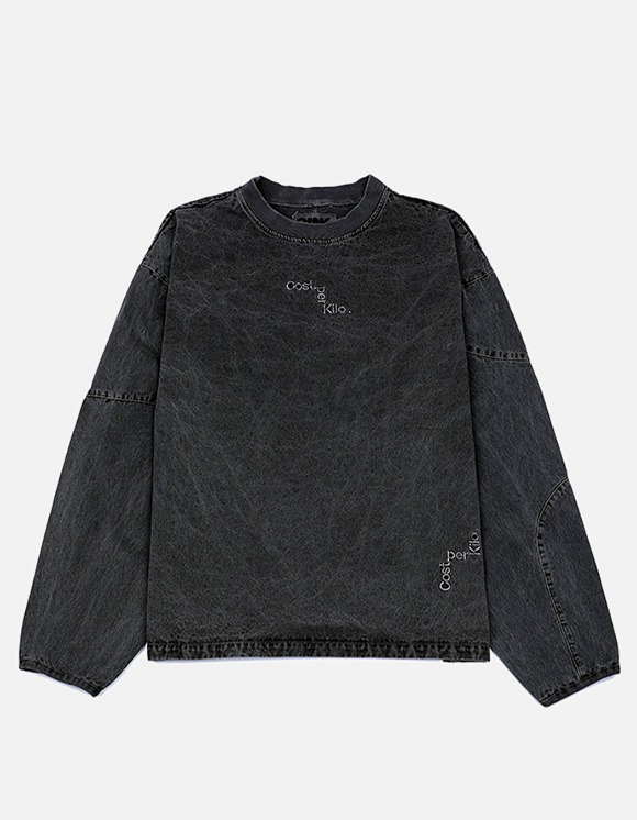 Cost Per Kilo Over Dyed Pullover - Black | HEIGHTS. | 하이츠 온라인 스토어