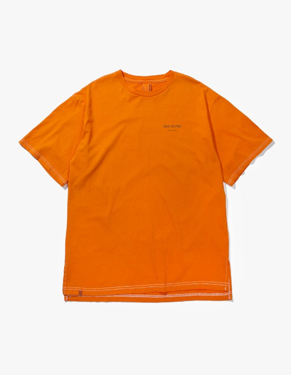 IDEAEND Baggy Tuck Half T-shirts - Orange | HEIGHTS. | 하이츠 온라인 스토어