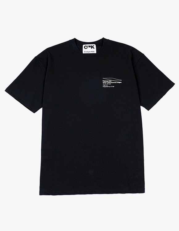 Cost Per Kilo Statement of Work S/S Tee - Black | HEIGHTS. | 하이츠 온라인 스토어