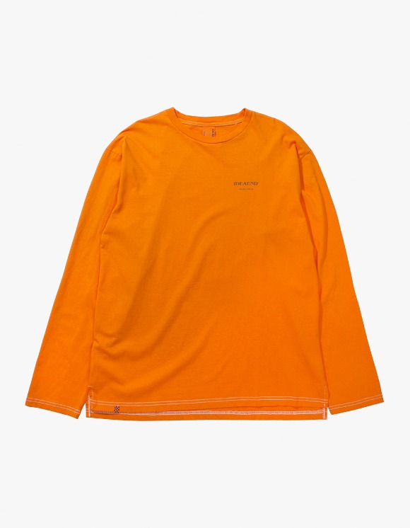 IDEAEND Baggy Tuck L/S T-shirts - Orange | HEIGHTS. | 하이츠 온라인 스토어
