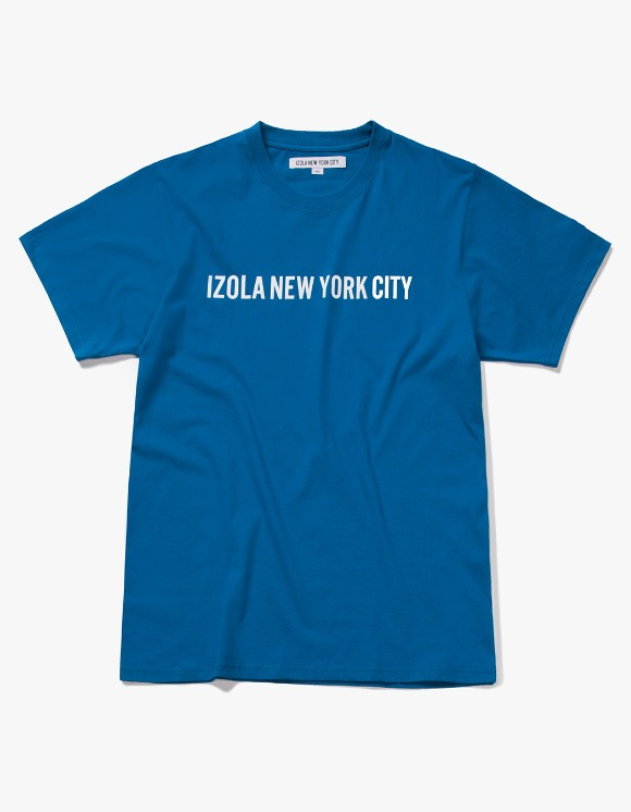 IZOLA NYC Logo S/S Tee - Deep Blue | HEIGHTS. | 하이츠 온라인 스토어