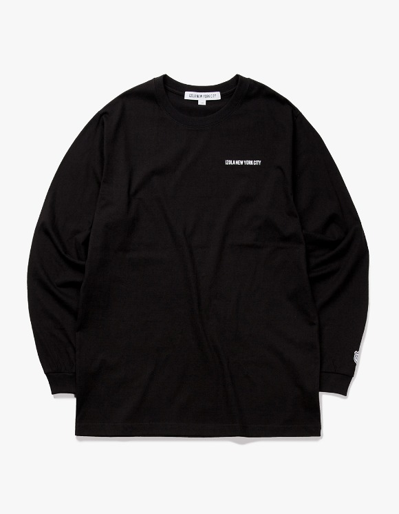 IZOLA NYC Logo L/S Tee - Black | HEIGHTS. | 하이츠 온라인 스토어