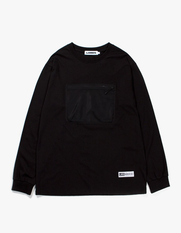 Lores Mesh Pocket L/S T-shirts - Black | HEIGHTS. | 하이츠 온라인 스토어