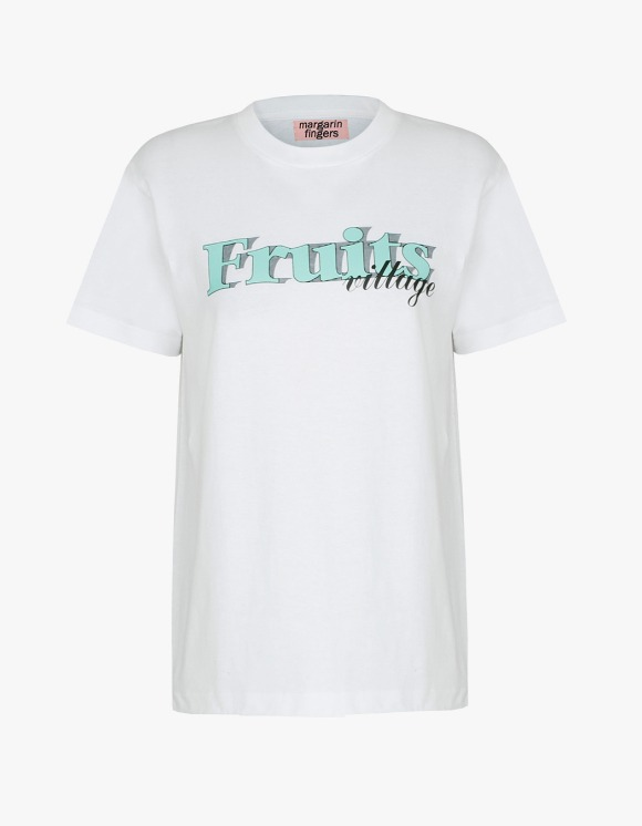 Margarin Fingers Fruits Tee - White | HEIGHTS. | 하이츠 온라인 스토어