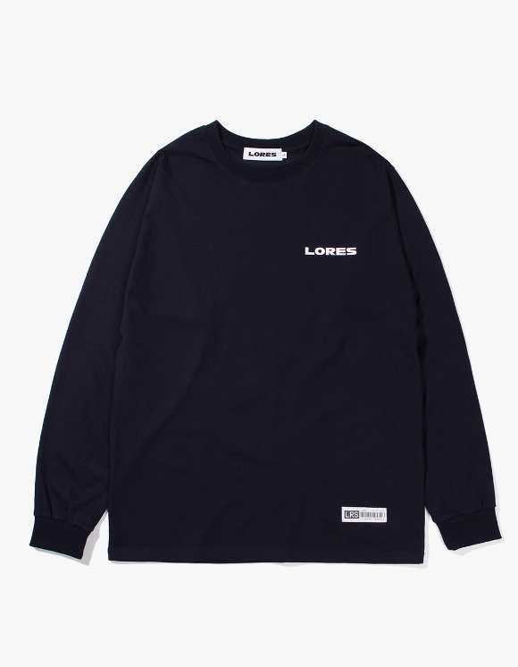 Lores Logo L/S T-shirts - Navy | HEIGHTS. | 하이츠 온라인 스토어