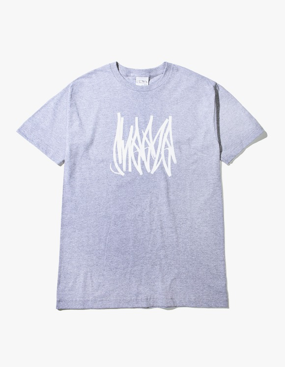 SNEEZE Magazine Sneeze Tag Tee - Heather Grey | HEIGHTS. | 하이츠 온라인 스토어