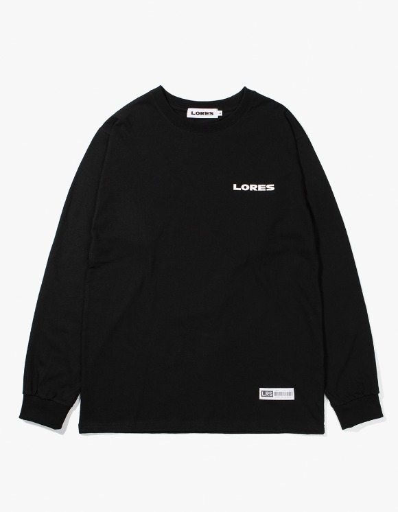 Lores Logo L/S T-shirts - Black | HEIGHTS. | 하이츠 온라인 스토어