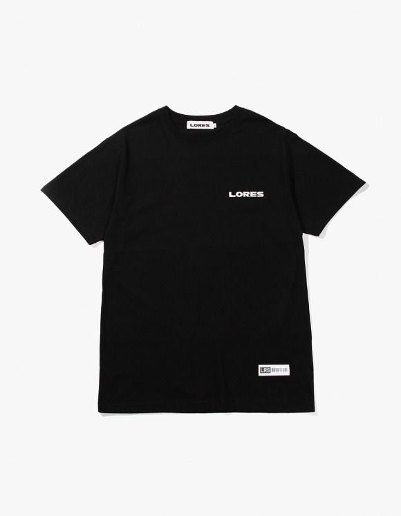 Lores Logo S/S T-shirts - Black | HEIGHTS. | 하이츠 온라인 스토어