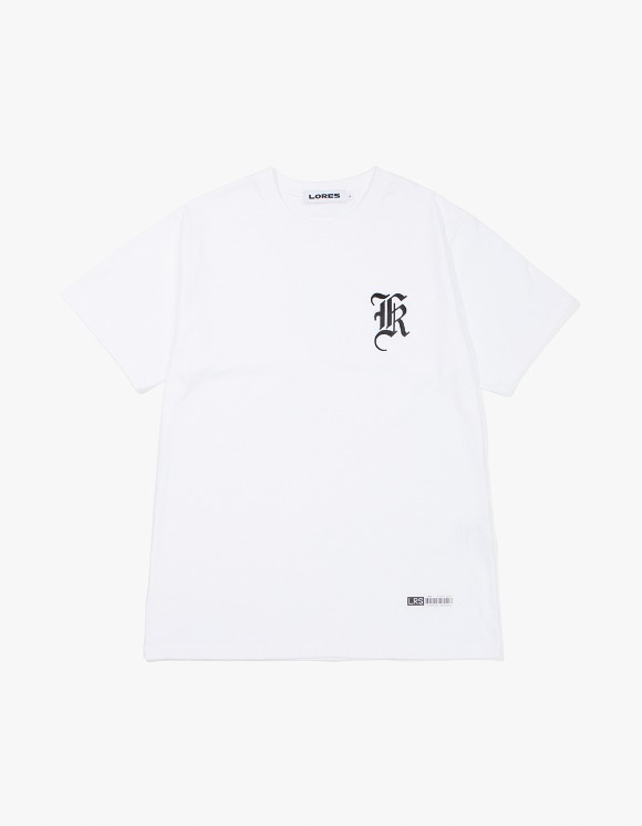 Lores Old English Logo T-Shirt - White | HEIGHTS. | 하이츠 온라인 스토어